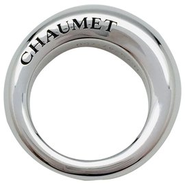 """Chaumet-Bague Chaumet en or blanc modèle """"Anneau"""".-Autre"""