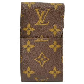 Louis Vuitton-Étui à cigarettes Louis Vuitton-Marron