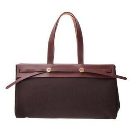 Hermès-Hermes herbag-Brown