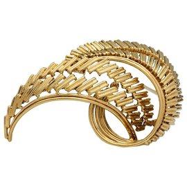 """Cartier-Clip Cartier """"Feuille"""" en or jaune.-Autre"""