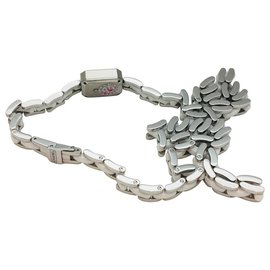 """Chanel-Chanel """"Première Mini"""" watch in steel and white ceramic, diamants.-Other"""