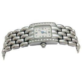 """Chaumet-Montre Chaumet modèle """"Khésis"""" en acier, diamants.-Autre"""