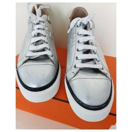 Hermès-Polo Hermes silver-Silvery,White