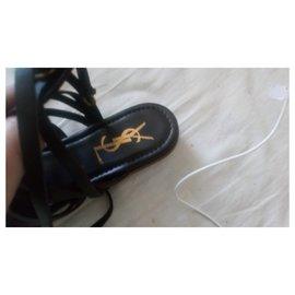 Yves Saint Laurent-sandals-Ebony