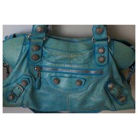 Balenciaga-City Balenciaga bag-Blue