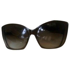 Bottega Veneta-Des lunettes de soleil-Kaki
