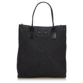 Gucci-Sac cabas en jean noir Gucci-Noir