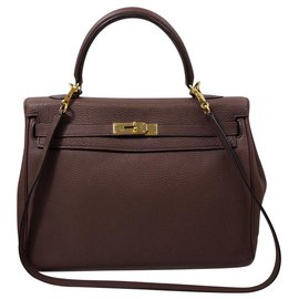 Hermès-Kelly-Dark red