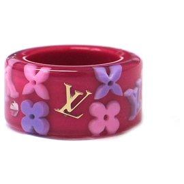 Louis Vuitton-Louis Vuitton, Bague Inclusion Rose-Rose,Multicolore
