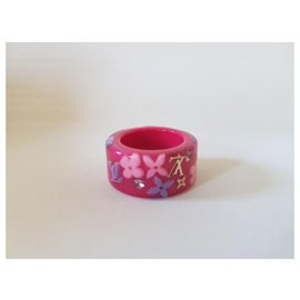 Louis Vuitton-Louis Vuitton, Bague Inclusion Rose-Rose,Multicolore
