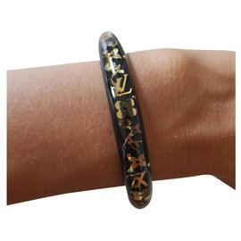 Louis Vuitton-Louis Vuitton, Bracelet inclusion-Noir,Doré