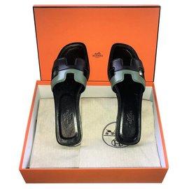 Hermès-Mules Hermès Oran-Noir