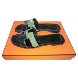 Hermès-Mules Hermes Oran-Black
