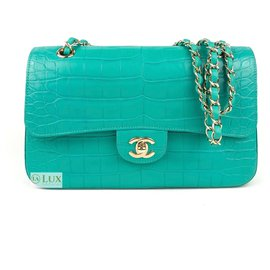 Chanel-classic lined flap-Turquoise