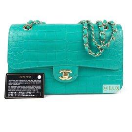 Chanel-rabat doublé classique-Turquoise