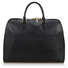Louis Vuitton-Louis Vuitton Black Epi Sorbonne-Black