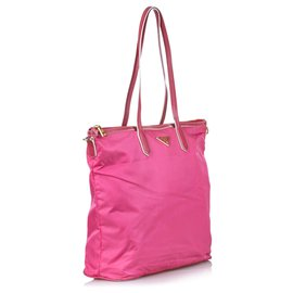 Prada-Prada Pink Nylon Satchel-Pink