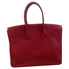 Hermès-Birkin 35-Rouge