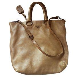 Prada-Handbags-Golden