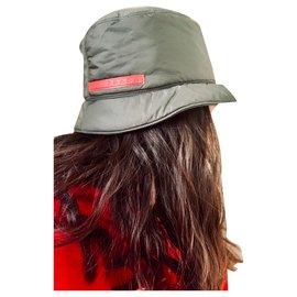 Prada-Chapéus Gorros-Verde escuro