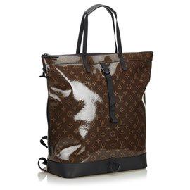 Louis Vuitton-Sac à dos Louis Vuitton Brown Monogram Glaze-Marron,Marron foncé