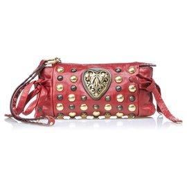 Gucci-Gucci Pochette en cuir Babouska Hysteria rouge-Rouge