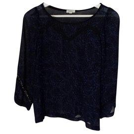Pablo De Gerard Darel-Sleeve blouse 3/4-Navy blue