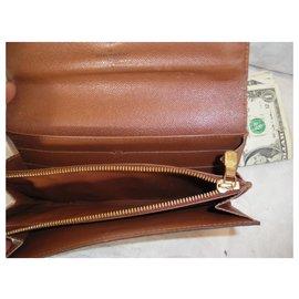 Louis Vuitton-Purses, wallets, cases-Brown