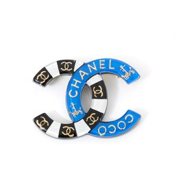 Chanel-CC LIFESAVER-Noir,Blanc,Bleu,Doré