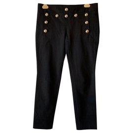 Gucci-Pantalon en coton noir style marin-Noir