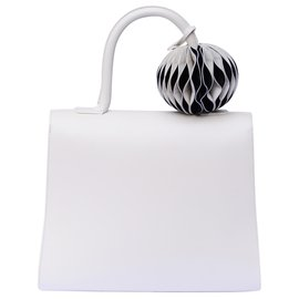 Delvaux-The Brilliant MM Ivory - with Grigri Circle GM, Undercover in Black & White-Eggshell
