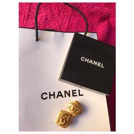 Chanel-BOUCLE D'OREILLE CHANEL VINTAGE-Doré