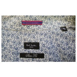 "Paul Smith-Paul Smith shirt ""spring floral"" new condition-Blue"