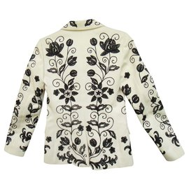 Chloé-fully embroidered Chloé jacket-White