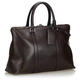 Gucci-Gucci Brown Leder-Business-Tasche-Braun,Dunkelbraun