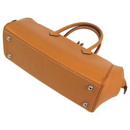 Hermès-Hermes Brown Paris Bombay Handbag-Brown,Light brown