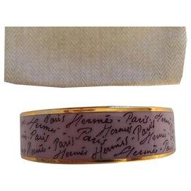 "Hermès-Hermès: Bracelet "" SIGNATURES  ""-Rose"