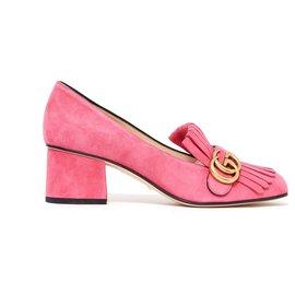 2d6cf6557 Gucci-MARMONT EU38 PINK SUEDE NEW-Pink,Golden ...
