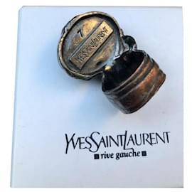 Yves Saint Laurent-Bague Arty Yves Saint Laurent noire-Noir,Argenté