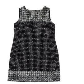 Chanel-BLACK WHITE TWEED FR42/44-Black