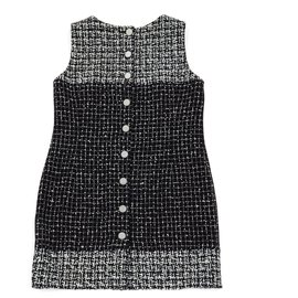 Chanel-BLACK WHITE TWEED FR42/44-Noir