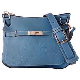 Hermès-Hermes Jypsiere bag 28-Blue