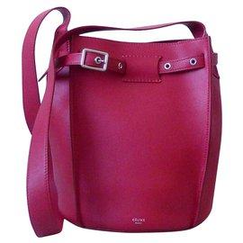 Céline-Céline Big Bag Bucket-Rouge