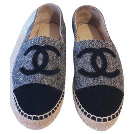 Chanel-Chanel espadrilles 39-Grey