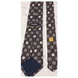 Chanel-Laço chanel de seda-Amarelo,Fora de branco,Azul escuro