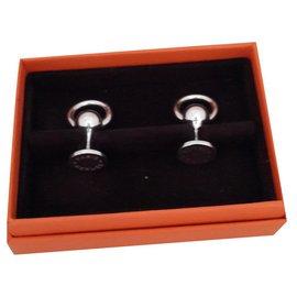 Hermès-Manschettenknöpfe-Silber