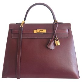 Hermès-hermes kelly 35 Epsom Sienne-Dark red