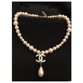Chanel-Collier ras de cou Chanel Pearl Drop-Autre