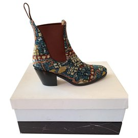 Chloé-Chloé santiag spirit boot new multicolor-Black
