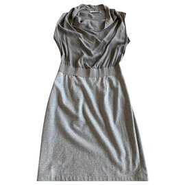Fabiana Filippi-Taupe dress in T38-Taupe